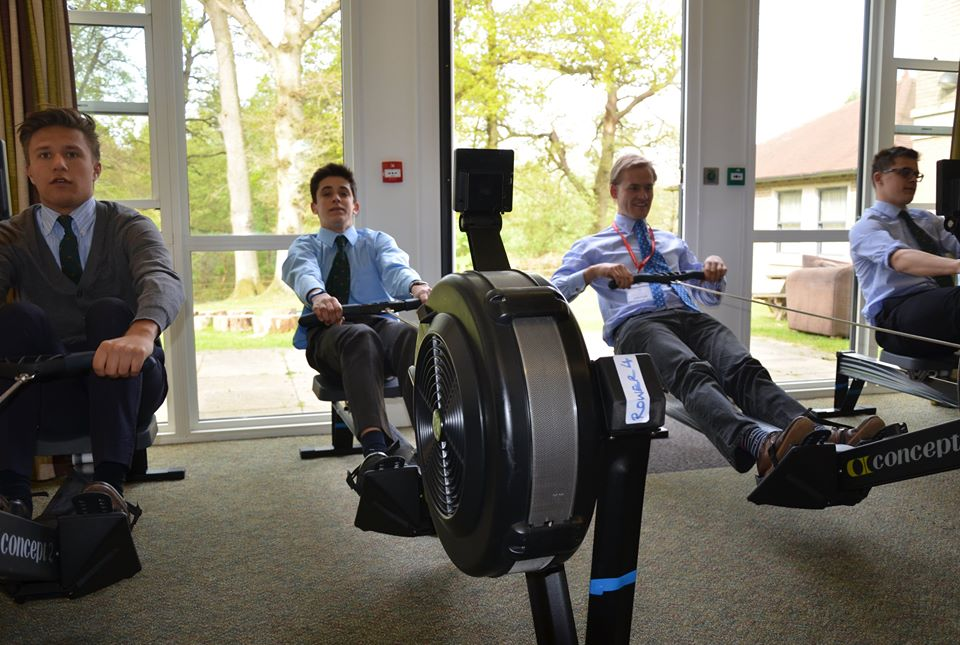 worth school fundraising rowing challenge