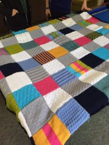 Handmade blanket being auctioned in aid of Kids for Kids by St Bede's House at Worth School