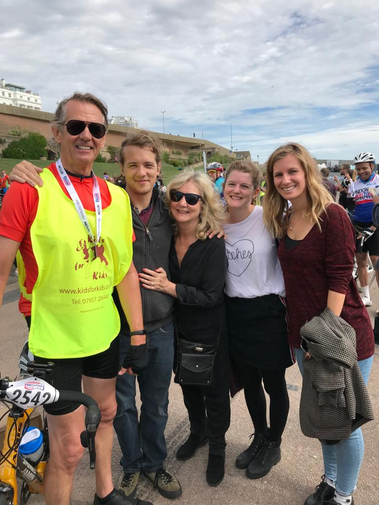 Terry Cycle- Family at Finish Line