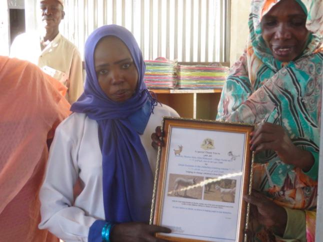 Munira with her certificate