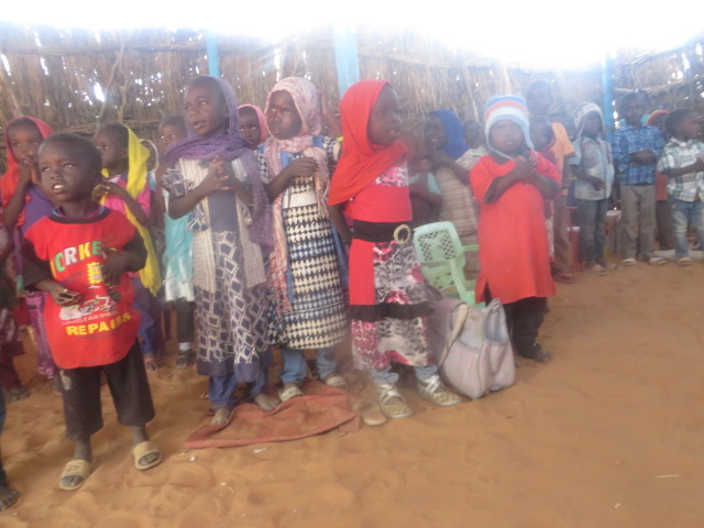 Children at current school in Kindro